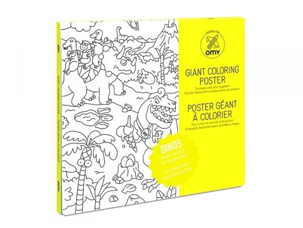 Poster géant à colorier - Dinos OMY  - 1