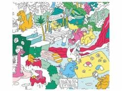 Poster géant à colorier - Dinos