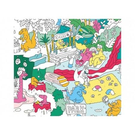 Poster géant à colorier - Dinos OMY  - 2