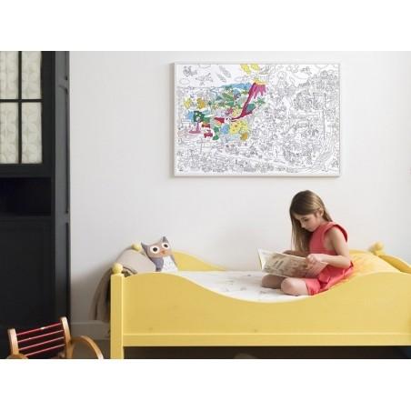Poster géant à colorier - Dinos OMY  - 3