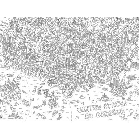 Acheter Poster géant à colorier - USA - 9,90€ en ligne sur La Petite Epicerie - Loisirs créatifs