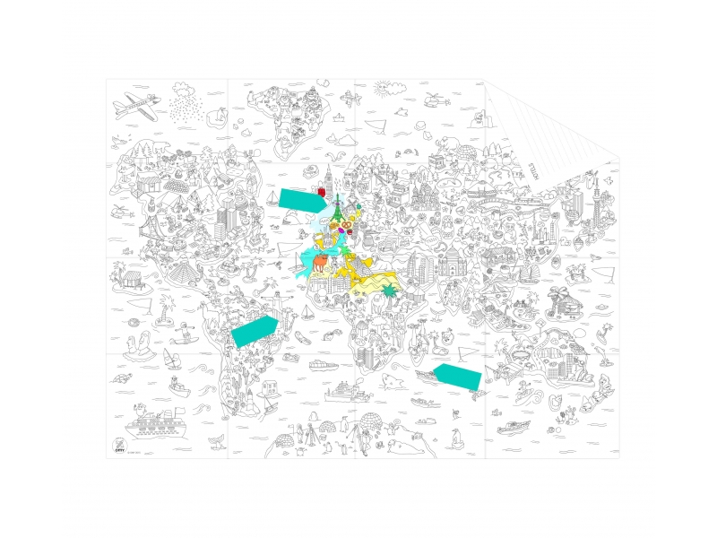 Acheter Pocket map à colorier - Atlas - 6,90€ en ligne sur La Petite Epicerie - 100% Loisirs créatifs