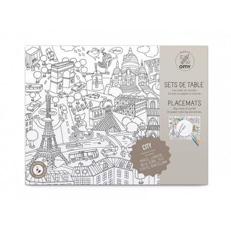 Acheter Set de table - city map - 14,90€ en ligne sur La Petite Epicerie - 100% Loisirs créatifs