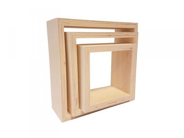 Acheter Lot de 3 étagères carrées - 9,99€ en ligne sur La Petite Epicerie - 100% Loisirs créatifs
