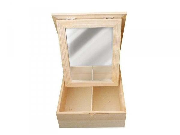 Acheter Boite 2 compartiments avec miroir - 8,89€ en ligne sur La Petite Epicerie - 100% Loisirs créatifs