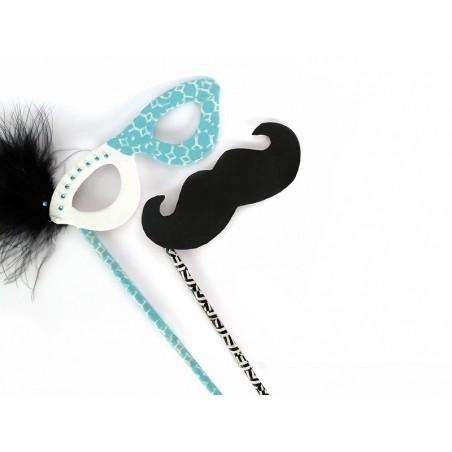Accessoires photobooth en papier maché - moustache