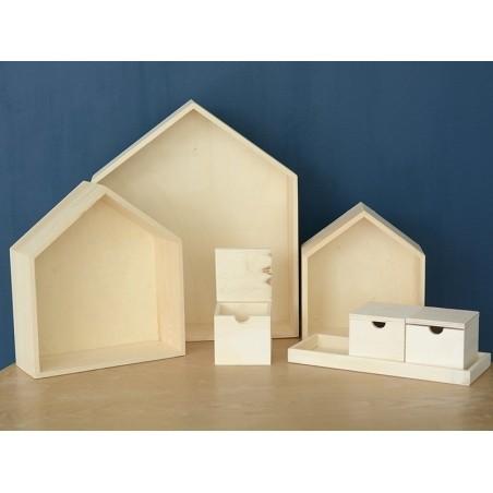 Acheter 3 boites à clapet en bois sur plateau - 5,99€ en ligne sur La Petite Epicerie - 100% Loisirs créatifs