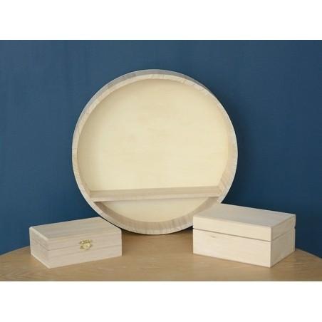 Acheter Coffret à bijoux avec fermeture en bois - 5,40€ en ligne sur La Petite Epicerie - 100% Loisirs créatifs