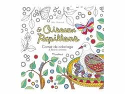 """Carnet de coloriage """"Oiseaux & papillons""""  - 1"""