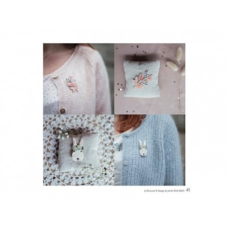 """Livre """"Je découvre le tissage de perles Brick Stitch"""" par Rose Moustache Créapassions - 3"""