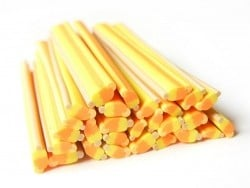 Ice lolly cane - orange and lemon