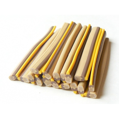 Iced-lolly cane - chocolate and caramel