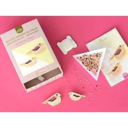 Acheter Kit Rose Moustache - tissage de perles Miyuki - Les jolis moineaux - 19,99€ en ligne sur La Petite Epicerie - 100% L...