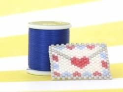Bobine de fil pour tissage de perles - 50m - Bleu saphir