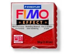 Pâte Fimo EFFECT Pailletée Rouge 202