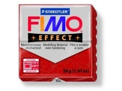 Pâte Fimo EFFECT Pailletée Rouge 202 Fimo - 5