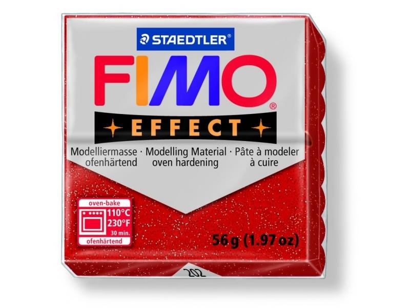 Fimo - glitter colour red no. 202