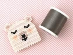 Bobine de fil pour tissage de perles - 50m - Grège