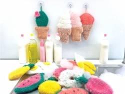 Laine à tricoter Creative bubble - blanc - pour éponge iwashi
