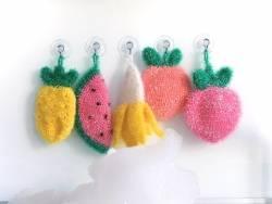 Laine à tricoter Creative bubble - corail - pour éponge iwashi