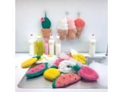 Laine à tricoter Creative bubble - rouge - pour éponge iwashi