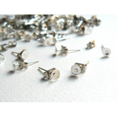 Acheter 20 paires de puces d'oreilles 5mm - couleur argent foncé - fermoir silicone - 5,40€ en ligne sur La Petite Epicerie ...