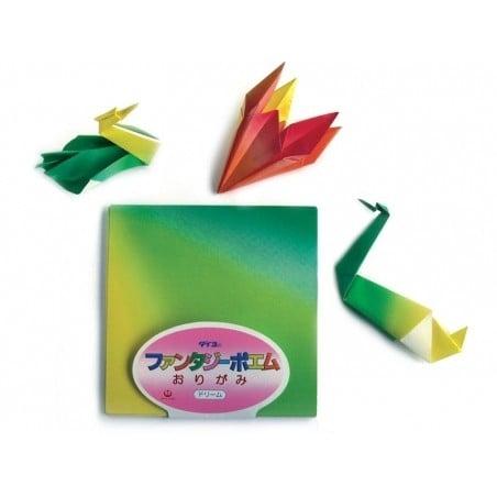 40 feuilles de papier Origami - Ombré couleurs vives Masking Tape - 2