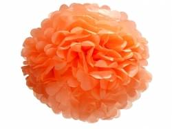 Tissue paper pom-pom (35 cm) - coral red