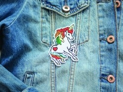 Iron-on patch - magic unicorn