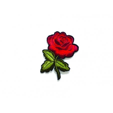 Ecusson thermocollant style tatoo - rose