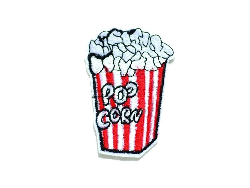 Vintage popcorn iron-on patch
