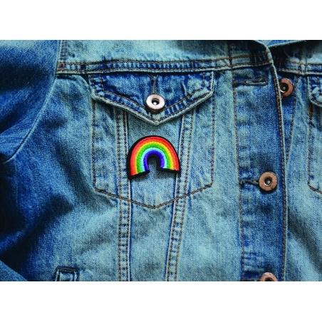 Iron-on patch - rainbow