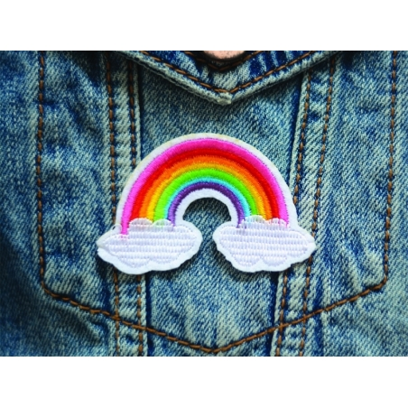 Iron-on patch - rainbow and clouds