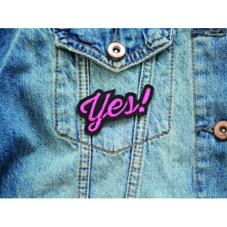 Iron-on patch - word/yes