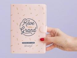 """Agenda journalier 2017 - 2018 """"Rêve en grand"""""""