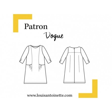 Patron de couture Louis Antoinette - Robe Vogue Louis Antoinette Paris - 2