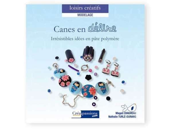 """French book """" Canes en délire Irrésistibles idées en pâte polymère"""""""