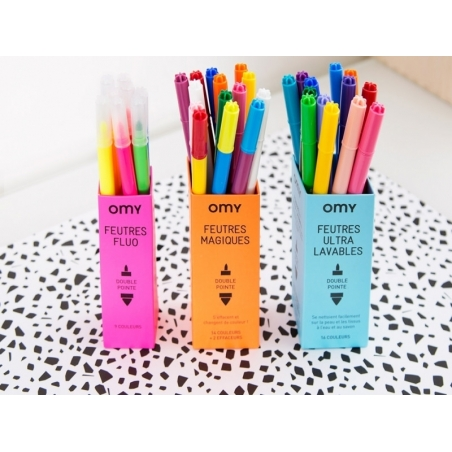 Acheter 16 feutres ultra-lavables - pour coloriage - 9,90€ en ligne sur La Petite Epicerie - 100% Loisirs créatifs