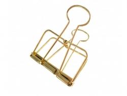 Boîte de 2 pinces dorées taille L