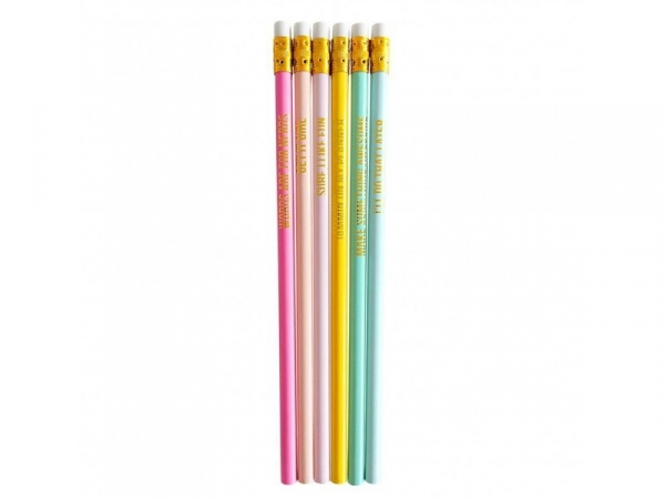 Lot de crayons - messages dorés Studio Stationery - 1