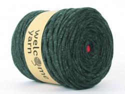 Grande bobine de fil trapilho - vert foncé chiné