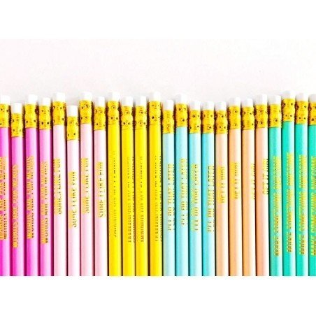 Lot de crayons - messages dorés Studio Stationery - 2