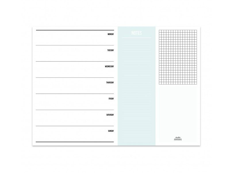 Planner semainier et notes Studio Stationery - 1