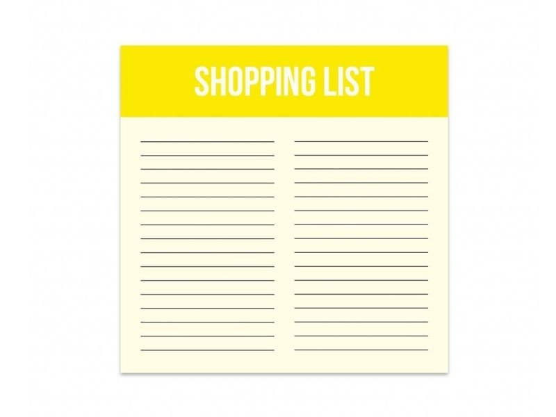 Mini Shopping List - Bloc de listes Studio Stationery - 1