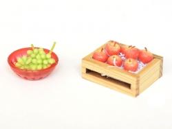 Miniature plastic colander - orange