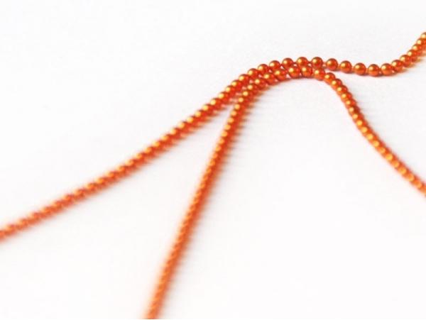 1m chaine bille orange foncé 1,5 mm