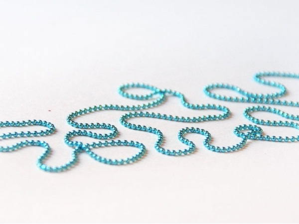 Turquoise ball chain (1 m) - 1.5 mm