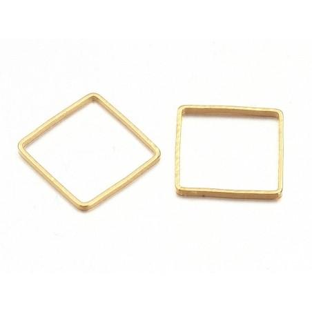 Anneau fermé carré - doré  - 5