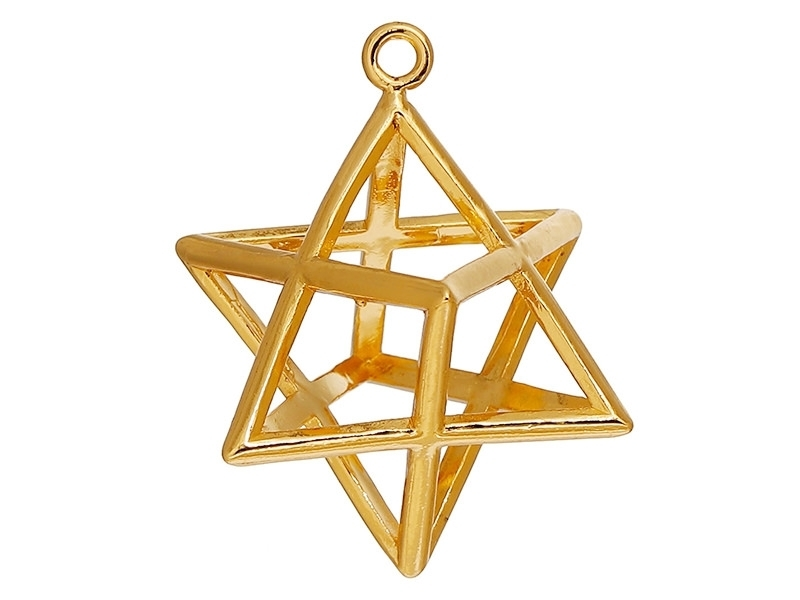 Acheter Pendentif géométrique Merkaba doré   - 4,50€ en ligne sur La Petite Epicerie - Loisirs créatifs