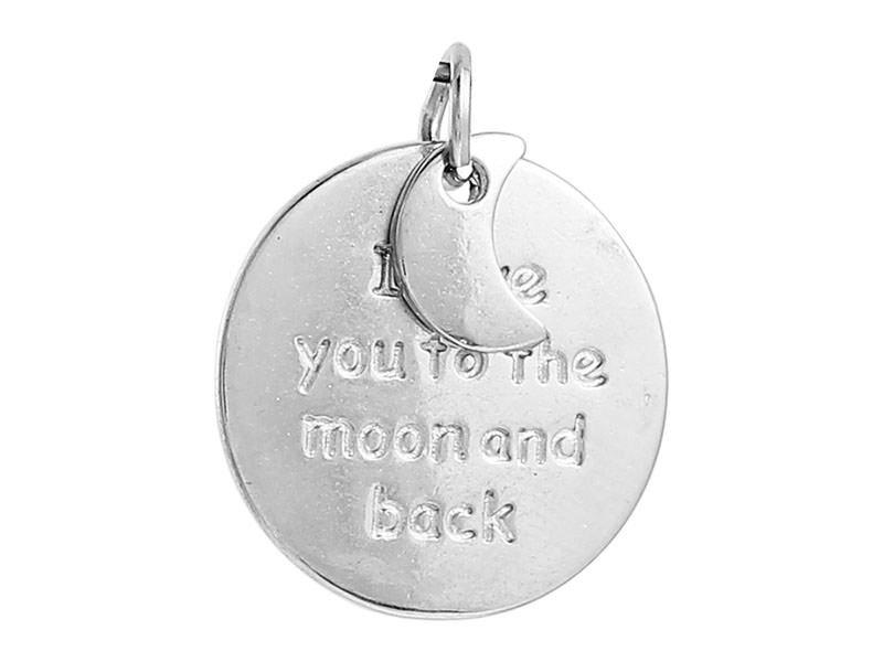 """Acheter Pendentif / breloque """"to the moon and back"""" - 0,99€ en ligne sur La Petite Epicerie - Loisirs créatifs"""
